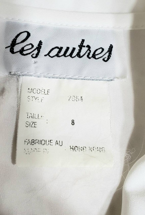 White Eyelet Lace Embroidered 70s Blouse - image 8