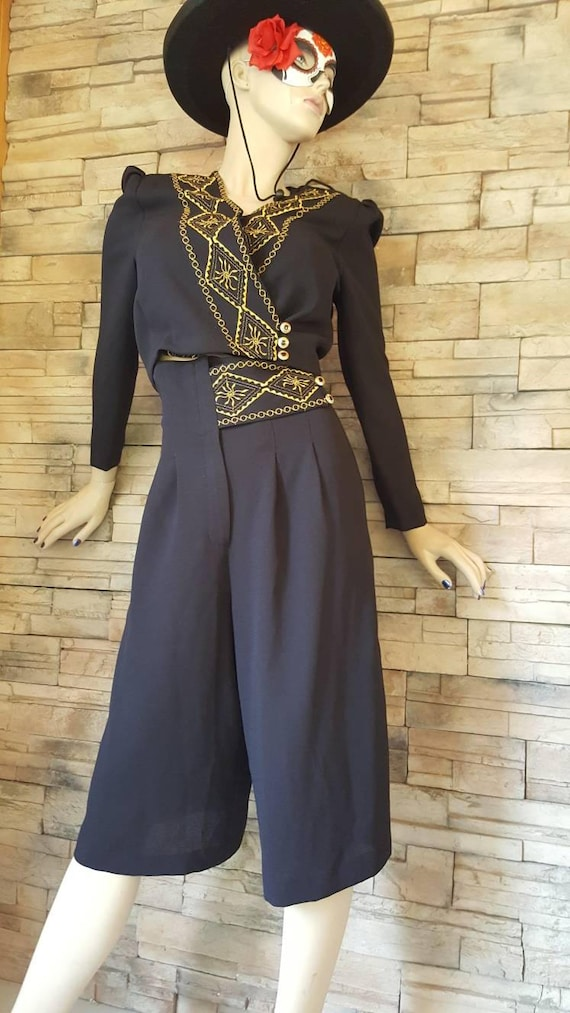 Mariachi Outfit/Goucho Pants Blazer Set - image 8