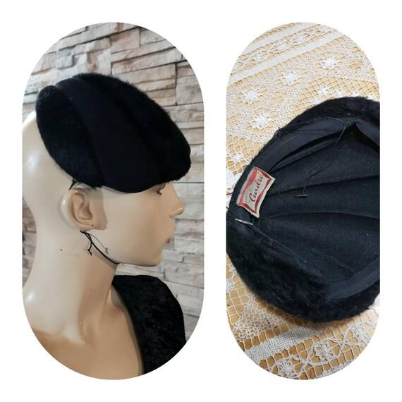 Antique Pillbox Fur Felt Hat