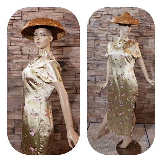 Long fitted Chinese dress