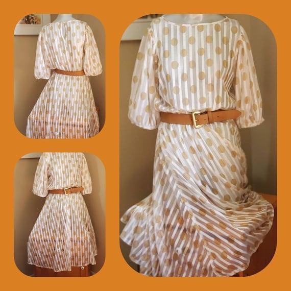 Retro Polka Dots Dress