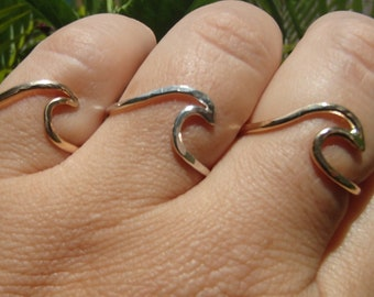 Hand shaped Wave Rings