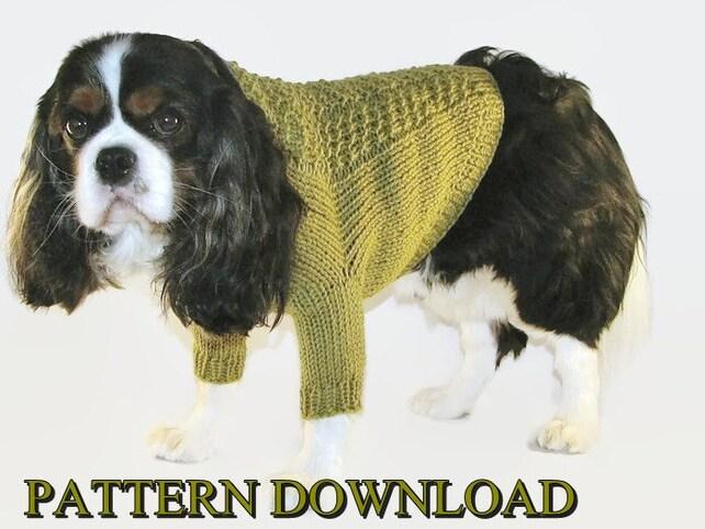 Dog sweater pattern Knit dog sweater Dog knit sweater Knitting | Etsy