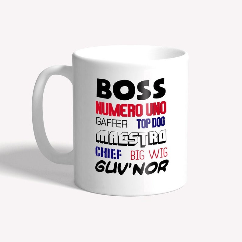 Funny boss mug: gift for boss  funny mug for work funny mug image 0