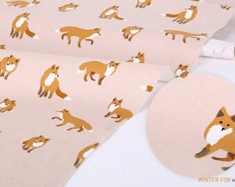 Winter fox - oxford - pink by the 0.5 Yard - Dailylike korea fabirc