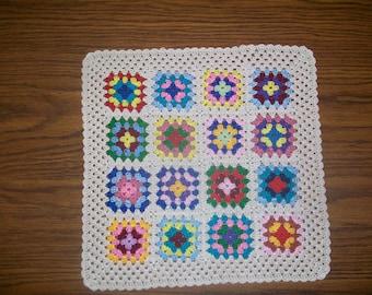 Crochet Granny Square Doily/Handmade/Unique/Hostess Gift