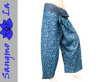 wrappants fisherman pants size XS - XXL crystals ethnic cotton goa bohemian yogini summerpants holiday beach spirit trousers