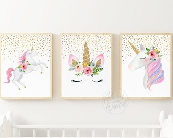 Superieur Unicorn Print, Unicorn Printable, Unicorn Print Set Of 3, Unicorn Print  Girls Room, Unicorn Prints Girls Bedroom, Nursery Wall Art, Decor