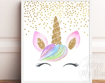 image regarding Printable Pictures of Unicorns referred to as Unicorn printable Etsy