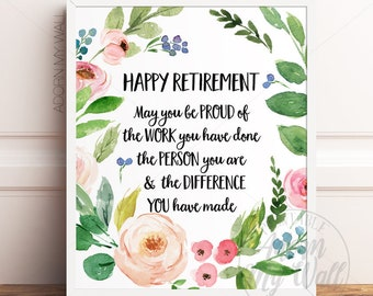 Retirement Printable Etsy