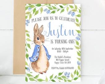 Peter rabbit invitations peter rabbit party party etsy peter rabbit invitations custom invitations custom made birthday invitations birthday invites invitation cards peter rabbit party filmwisefo