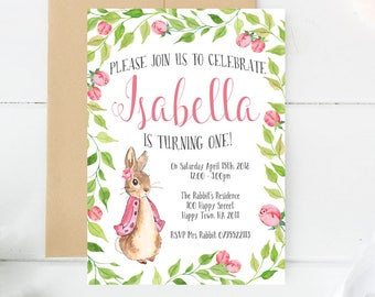 Peter Rabbit Invitations Peter Rabbit Party Party Etsy