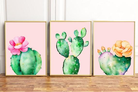 Cacti prints Cactus Prints Cacti Wall Art Cactus Wall Art | Etsy