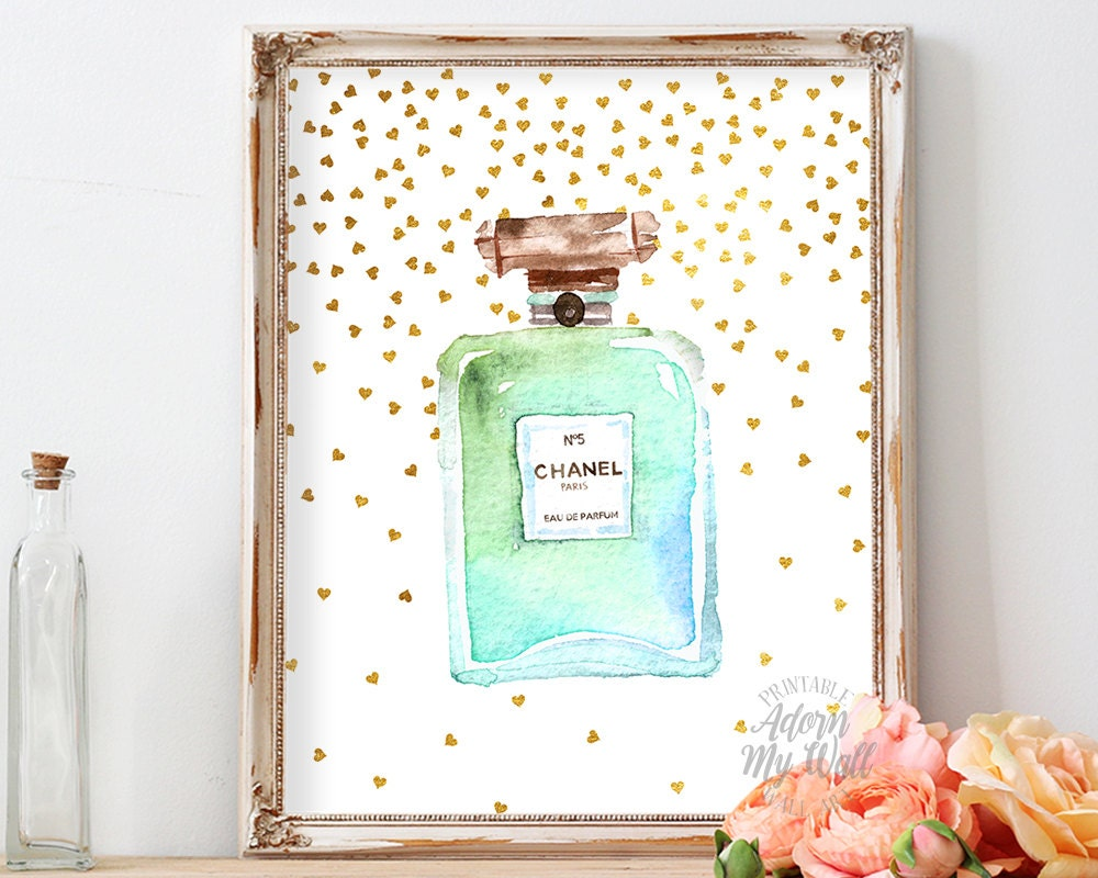Chanel Coco Chanel No 5 Poster Print No5 Perfume Bottle Etsy