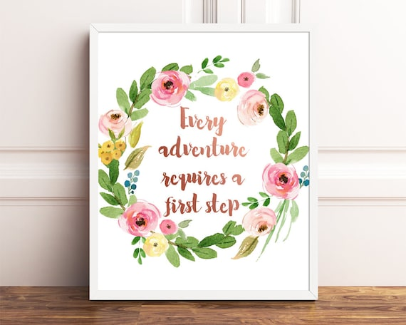 Every Adventure Requires A First Step Alice In Wonderland Etsy