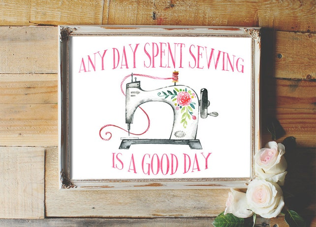 Any day spent sewing is a good day sewing quote sewing | Etsy