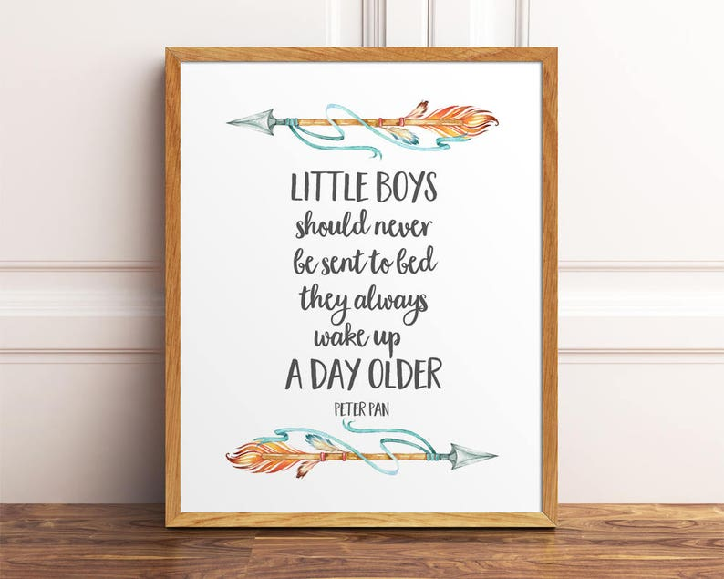 Little Boys Should Never Be Sent To Bed Peter Pan Print Wall image 0