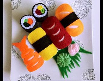sushi felt play food, montessori toys