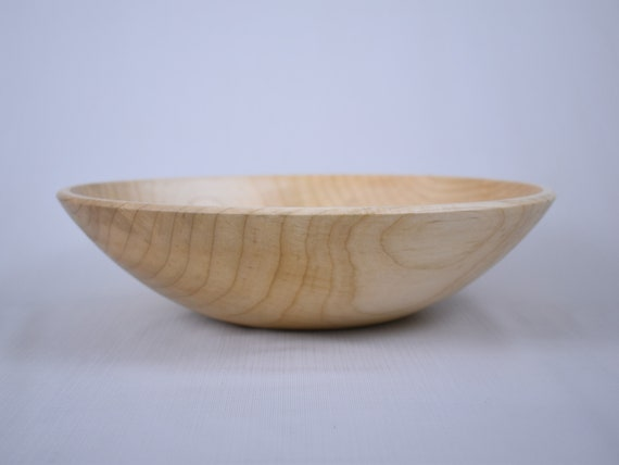 Wooden Salad Bowl | Silver Maple Bowl | Lathe Turned Wooden Bowl | Wooden  Popcorn Bowl