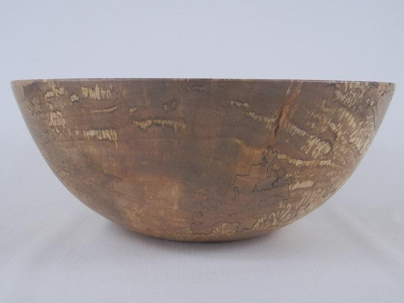 Handmade Wooden Bowl Figured Maple Wood Bowl Figured Spalted Maple Bowl Decorative Wooden Bowl