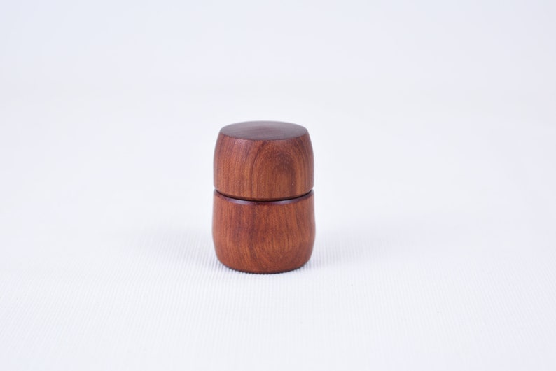 Pill Box Lidded Hand Turned Wooden Travel Pill Case
