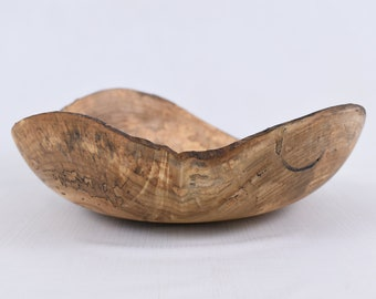 Natural Live Edge Decorative Bowl Hand Turned Spalted Maple