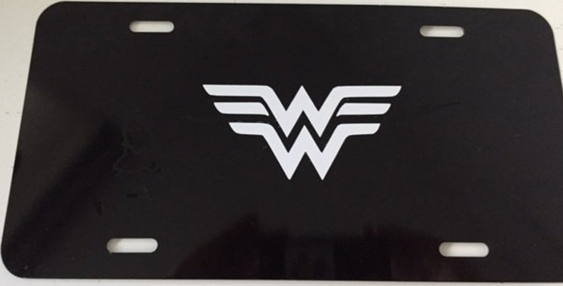 Wonder Woman Logo Photo License Plate