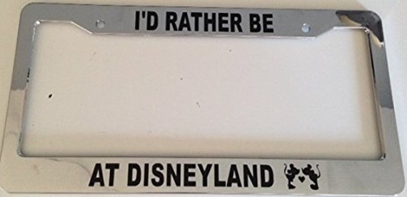 I\'d Rather Be at DisneyLand Silhouette Cute Chrome | Etsy