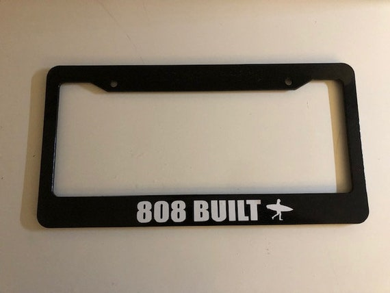 I/'D RATHER BE IN HAWAII hibiscus License Plate Frame