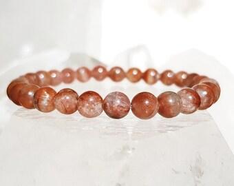 ॐ Red Auralite 23 Bracelet 6mm ॐ Mala Bracelet - Yoga Bracelet - Meditation - Reiki Bracelet 6 mm