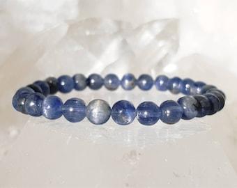 ॐ Kyanite Bracelet 6mm ॐ Mala Bracelet - Yoga Bracelet - Meditation - Reiki Bracelet 6 mm