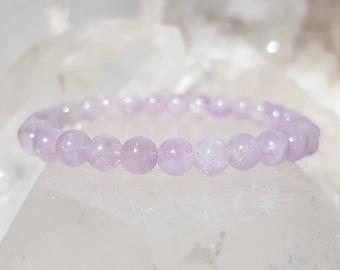 ॐ Lavender Amethyst Bracelet 6mm ॐ Mala Bracelet - Yoga Bracelet - Meditation - Reiki Bracelet 6 mm