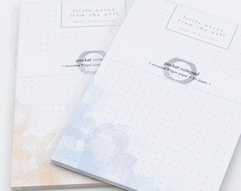 Watercolour Flowers - Pocket Notepad