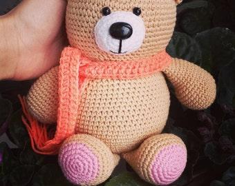 Crochet bear, Amigurumi bear, Teddy Bear, plush cute bear