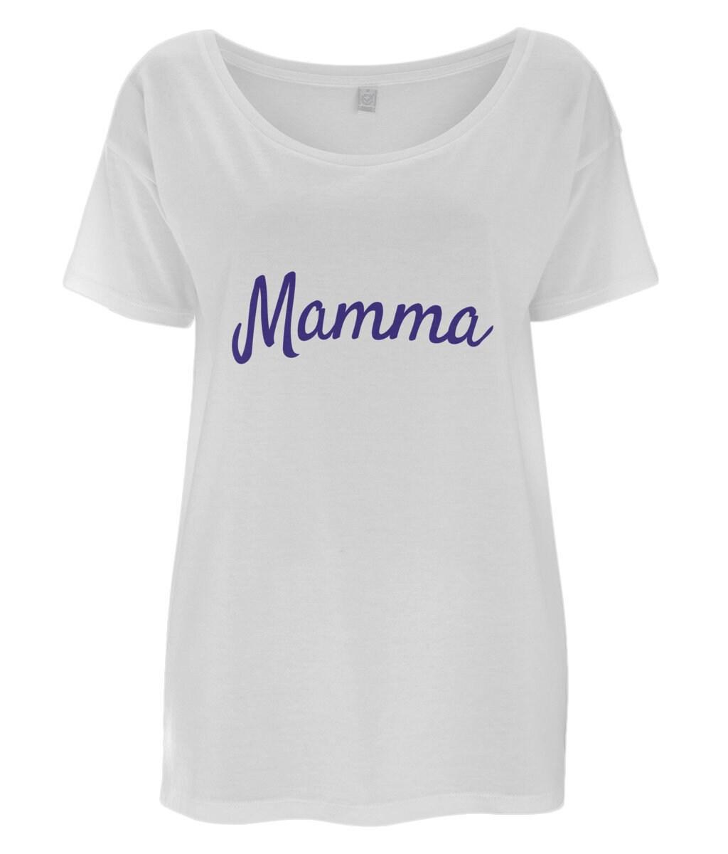 213faeb0956 Mamma Italian Slogan Women s Tencel Blend Oversized