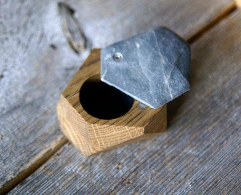 Wood ring box Woodstone ring box Ring box Proposal ring box Rustic ring box,Jewelry box Engagement ring box