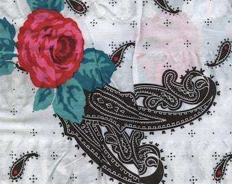 Paisley seersucker fabric