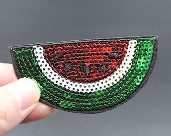 Watermelon Iron On Sequin Patch Embroidered patch 7.8x3.9cm - PH328