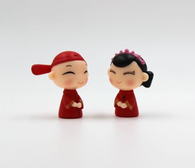 Key Chain Figurine Miniature 33mm HN269 Phone Accessories 2pcs Bride and Bridegroom Dollhouse Charm Decoden Charm