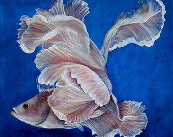 Fighting fish - Original painting