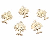 50pcs Gold Plated Life Tree Charms ,Double Sided Charm,Tree Pendant ,Beading Jewelry Finding