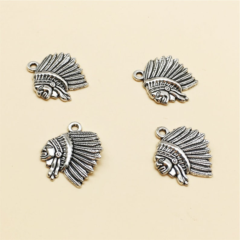 78c32c6321 50pcs Indian Chief Charms,Native American Charms,Antique Silver Charm  ,Wholesale Charm