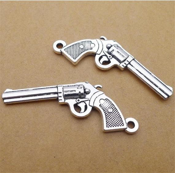 5-60pcs Retro Style ancient silver The roses  gun Charms Pendants