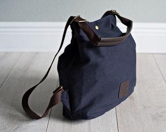 885e4d8094 Backpack Convertible Tote Bag Canvas Vegan Laptop Tablet Purse Beach Messenger  Handbag Luggage Carryall Grad Gift Her Blue Red Navy White