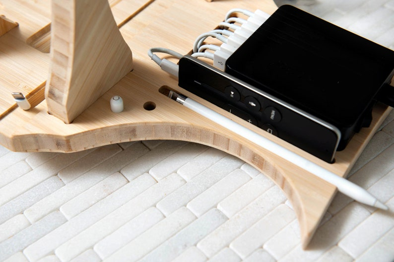 The Valet Charging Station for Apple Watch, AirPods, Phone, iPad and  Headphones By Left Coast Original