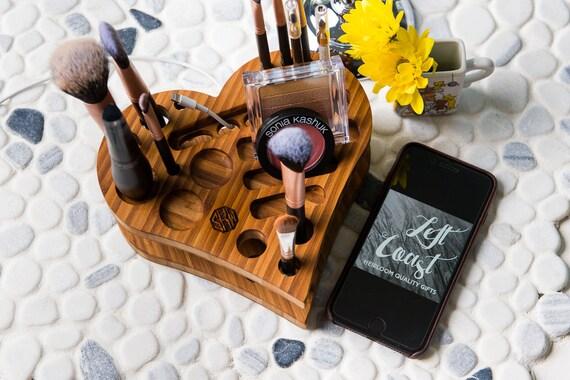 Makeup Organizer Heart Vanity Brush Holder Cosmetics