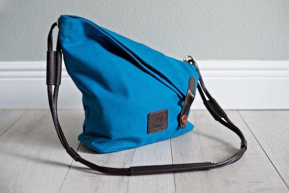 Hobo Tote Bag Canvas Crossbody Messenger Vegan Laptop Tablet Purse Beach Handbag Luggage Carryall Gift Her Blue Red Navy White Free Shipping