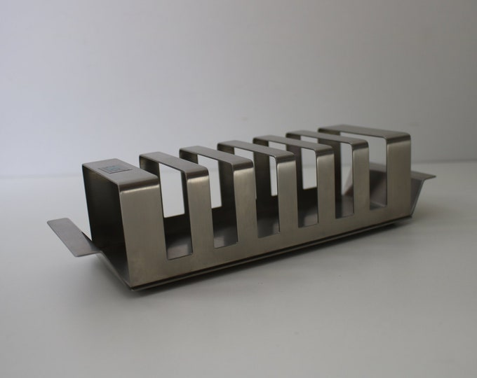 German 80s 90s stainless steel toastrack by Zack