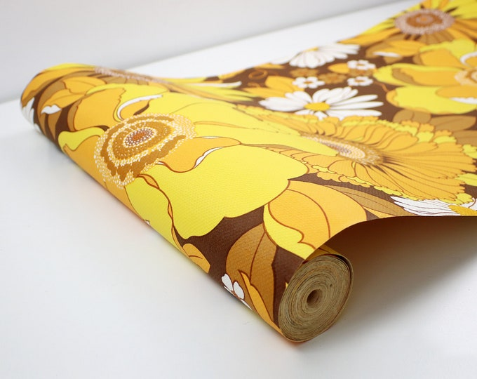 1960s 70s Sanderson  wallpaper roll - complete roll over 10 metres