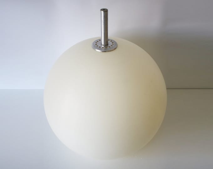 Rare original 1960s / 70s white plastic globe ceiling light - space age modernist - large ex commercial use